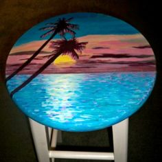 Hand Painted Bar Stools - Salada Designs Great for the tiki bar!!! This site has all sorts of designs or you can have one custom made for you!! Very reasonable!!!