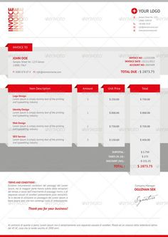 Invoice Design Templates  Invoice Template Designs Download