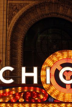 chicago theater marquee--awesome close up