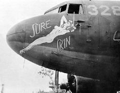"""C-47 Skytrain nose art """"Sure Skin""""—San Diego Air and Space Museum image archive"""