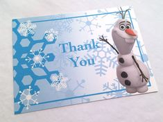 Frozen Party - Thank You Card