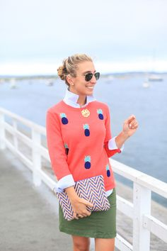 adore this outfit! coral & navy are not two of my colors but I love the combo of this outfit