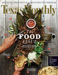Texas monthly - the food issue: nice mood & composition, lovely typo and greet colours. Food Magazine Layout, Magazine Cover Layout, Magazine Covers, Magazine Design, Food Graphic Design, Menu Design, Food Design, Layout Design, Cookbook Design