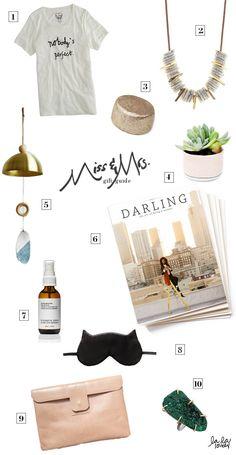 gift guide / miss + mrs. #lalalovely