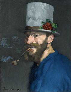 Louis Anquetin · Autoritratto con pipa · 1892 · Collezione privata