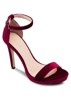 Platform Heeled Sandals from ZALORA in red_1