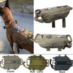 Tactical Dog K9 Training Molle Vest Harness (5 Sizes)
