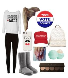"""""""Election Day"""" by hannahsdisney on Polyvore featuring UGG Australia, MICHAEL Michael Kors, Casetify, Eos and Trump Home"""