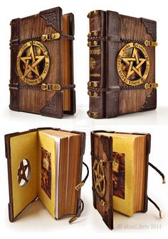 The more a thing is perfect, the more it feels pleasure and pain. ― Dante Alighieri, The Divine Comedy ________ www. The last one wooden Grimoire. Wooden Books, Leather Books, Leather Art, Braided Leather, Magic Book, Handmade Books, Handmade Journals, Handmade Rugs, Handmade Crafts