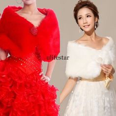 Women Cape Jacket Faux fur Bride Wedding Cloak Shawls Stole Shrug poncho Vest LM. $7.39 free shipping