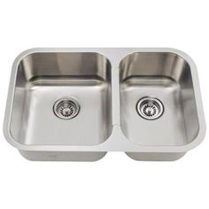 Polaris Sinks Undermount Stainless Steel 28 in. Double Bowl Kitchen Sink-PL035 - The Home Depot