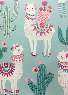 Caderno Cute Backgrounds, Cute Wallpapers, Wallpaper Backgrounds, Iphone Wallpaper, Phone Backgrounds, Alpacas, Alpaca Illustration, Illustration Art, Llama Arts