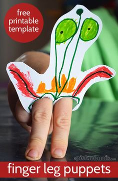 Finger Leg Puppets - with a free printable template