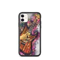 Syn Gates's biodegradable, iphone case, iphone xr case, iphone 7 case, iphone 8 case, iphone x case, iphone xs case, iphone 11 case Guitar Gifts, Music Gifts, Guitar Painting, Guitar Art, Iphone 8 Cases, Iphone 11, Music Wall Art, 6 Case, Cool Artwork