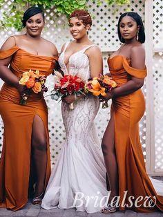 Black People Weddings, Mermaid Bridesmaid Dresses, Brown Bridesmaid Dresses, Bridal Dresses, Bridesmaids And Groomsmen, Dream Wedding Dresses, Wedding Attire, Wedding Inspiration, Wedding Ideas