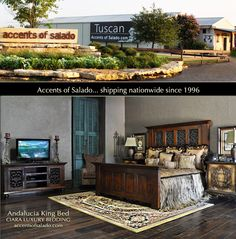 Massive beds.. our specialty. Accents of Salado