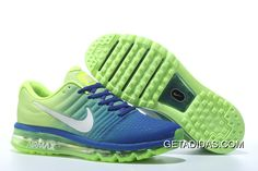 eb8a82638df Find Nike Air Maxs 2017 Mens Royal Blue Fluorescent Green Running Sho  online or in Nikelebron. Shop Top Brands and the latest styles Nike Air  Maxs 2017 Mens ...