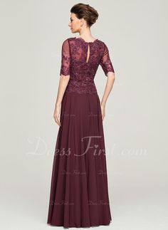 dbf35ec55cb   208.99  A-Line Princess Scoop Neck Floor-Length Chiffon Lace Mother of  the Bride Dress With Beading Sequins (008062570)