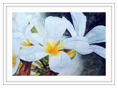 Frangipani 1 ARTIST LORNA PAULS A3 Watercolour on 200g ProArt Paper Done March 2017 Watercolour Art, Watercolor Flowers, Watercolours, A3, Wildlife, March, Paper, Artist, Painting