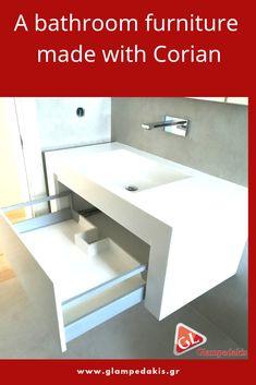 A #bathroom #furniture made with #Corian!