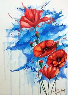 (Reproduced Print of Original Artwork, Chromogenic Print, or C-Print) Flowers, Nature Original Artwork, Original Paintings, Any Images, Hanging Art, Red Poppies, Color Pop, Vibrant Colors, Art Prints, The Originals