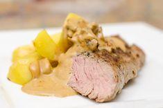 Bravčová panenka s dijonskou omáčkou Pork, Meat, Kale Stir Fry, Beef, Pork Chops