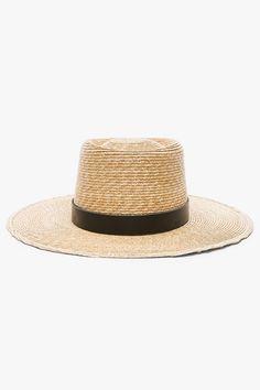 c7138d0b747cea Janessa Leone Ruth Telescope Straw Hat Hat Crafts, Telescope, Black  Leather, Braids,