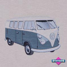 Möbelbezugsstoff Hippie Bus - Kissenformat von Stoffhaus-Berlin auf DaWanda.com