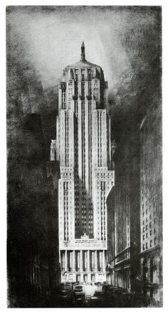 Hugh Ferriss' Art Revisited - The Chicago Board of Trade