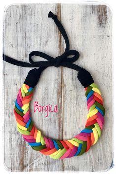 A personal favorite from my Etsy shop https://www.etsy.com/listing/539204085/pastell-rainbow-fishbone-braided-tshirt
