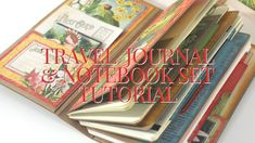 [Tutorial] Travel Album with Notebooks Featuring Lost in Paradise: Club - Vol 08 2019 Craft Packaging, Travel Album, Mini Album Tutorial, Graphic 45, Travel Scrapbook, Finding Joy, Travelers Notebook, Easy Projects, Journal Inspiration