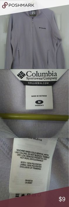Columbia fleece jacket pullover M Excellent Condition. Lavender Columbia Jackets & Coats