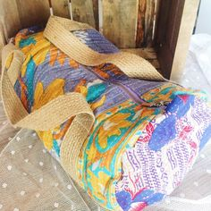 A personal favourite from my Etsy shop https://www.etsy.com/listing/505709051/duffel-bag-vintage-kantha-blues
