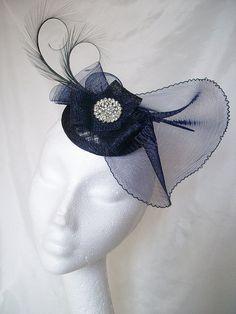 Navy Blue Isadora Fascinator Hat