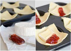 Blätterteig, Camembert und Marmelade - Yummi!