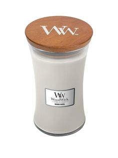 Woodwick Large Hourglass Candle - Warm Wool in One Colour One Color, Colour, Calming Sounds, Good Burns, Log Fires, Candle Warmer, Flower Invitation, Recycling Bins, Burning Candle
