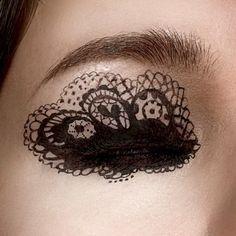 Lace eye makeup  #design #detailed #bold #eye #makeup #eyes