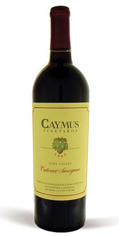 Caymus - Smooth texture, balanced flavor