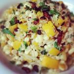 Creamy Brown Rice with Bacon and Corn