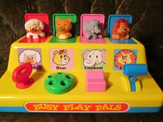 Vintage Toy, Poppin' Pals Pop-Up Toy, Vintage Busy Play Pals Animal Buddies. Playful Fun, Entertaining by FriendsRetro on Etsy