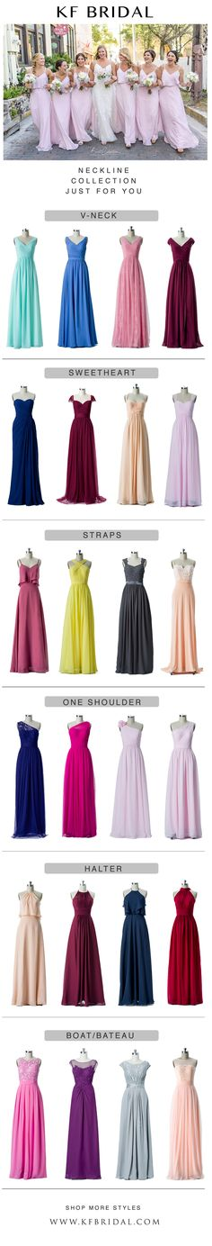 KF Bridal would like to help you choose your favorite neckline for you bridesmaid dresses! ALL on HUGE SALE!