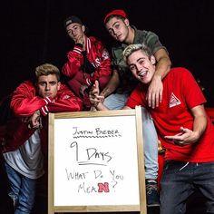 Pin for Later: Justin Bieber Enlists Rock Legend Steven Tyler to Help Promote His Upcoming Single Jack Gilinsky, Jack Johnson, Sammy Wilk and Skate Maloley