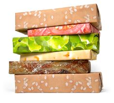 Hamburger wrapping paper by Gift Couture