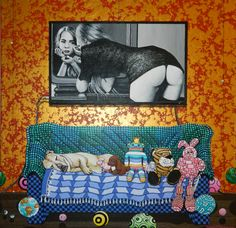 """""""She was sofa king cool""""  Hamish M Mulvaney  $820  457mm x 457mm  see more of his work here  http://coolstoregallery.co.nz/HamishMulvaney.htm"""
