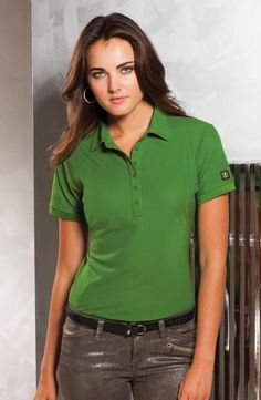 """OGIO® JEWEL LADIES' POLO. LOG101. 8.4-oz, 100% polyester with stay-cool wicking technology. Self-fabric collar. Tagless. 6-button placket. Signature """"O"""" badge on left sleeve. Ladies' sizes XS-4XL. For more information, competitive pricing and ordering details contact: ww.Fivetwentyfour.ca   #promotionalproducts"""