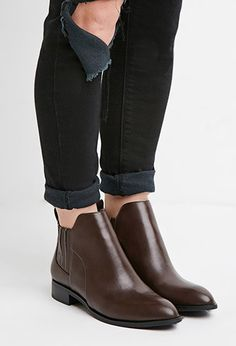 Faux Leather Chelsea Boots...to be fair, my name is in their name, so by default I NEED this. It's sound logic