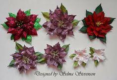 10/31/2013.  Selma's Stamping Corner and Floral Designs - Susan's Garden Poinsettieas tutorial