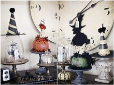 #witch-y party hats for Halloween. Would be a fun #DIY