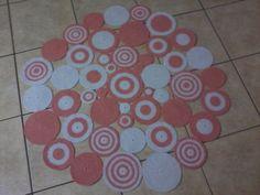 Quer barato? Tapete círculos salmão/branco por R$ 456,00 - Loja Solidarium - QueroBarato!