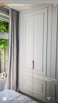 Bedroom Built In Wardrobe, Bedroom Closet Design, Wardrobe Doors, Closet Designs, Home Bedroom, Bedroom Decor, Bedroom Ideas, Master Bedroom, Dressing Room Design